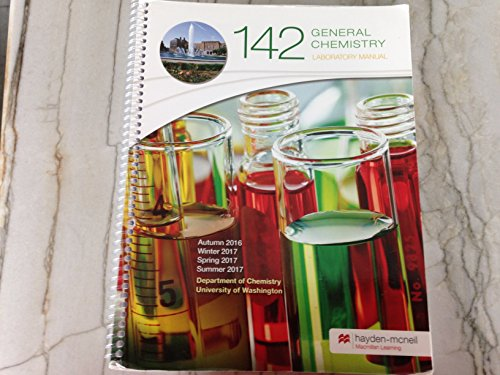 (General Chemistry 142 Laboratory Manual- University of Washington)