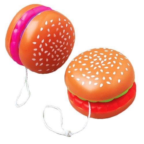 Hamburger Theme Plastic Yo Yo's (Cheap Yoyos)