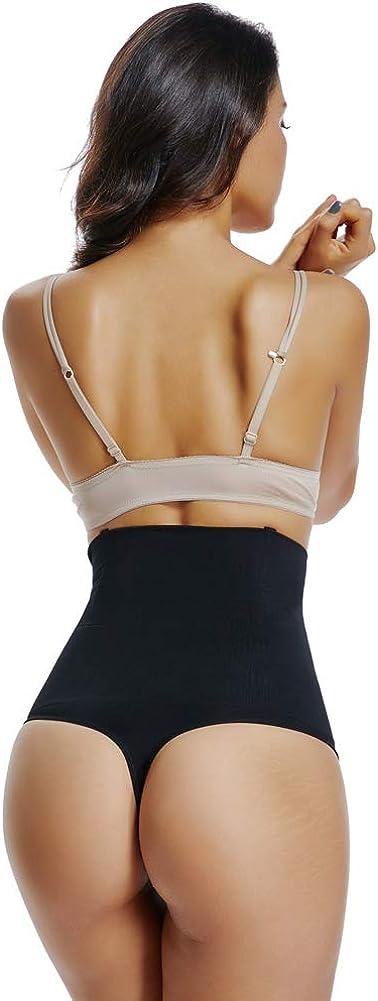 Joyshaper High Waist Thong Women Tummy Control Knickers Seamless Panties Briefs Slimming Body Shaper Shapewear Butt Lifter Pants