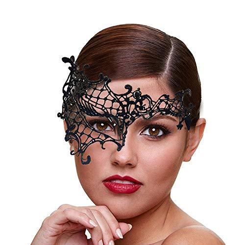 IDOXE Luxury Lace Eye Mask Women Sexy Masquerade Party Ball Goddess Venetian Mardi Gras Masks (Half Face) -