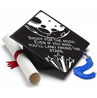 Shoot for the Moon Graduation Cap Tassel Topper - Decorated Grad Caps - Decorating Kits