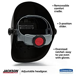 Jackson Safety 370 Replacement Headgear (20696), Adjustable Jackson Welding Helmet Parts, Black and Gray