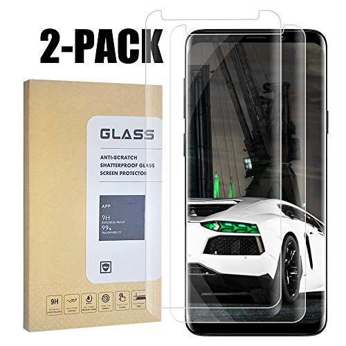 Samsung Galaxy S9 Screen Protector, [Easy to Install][HD – Clear][Case Friendly][Anti-Fingerprint] Premium Tempered Glass Screen Protector for Samsung Galaxy S9 … 2 Pack