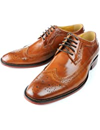 Men's Oxford Shoes Leather Lace up shoes Brogue Wingtip Business boots Formal Dress Shoes