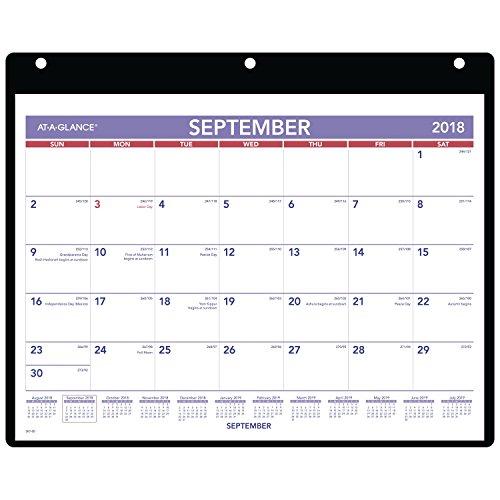 AT-A-GLANCE Academic Desk/Wall Calendar, September 2018 - December 2019, 11
