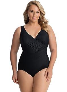 6650a20b35d Miraclesuit Women's Plus Size Swimwear Solid Oceanus Sweetheart Neckline  One Piece Swimsuit