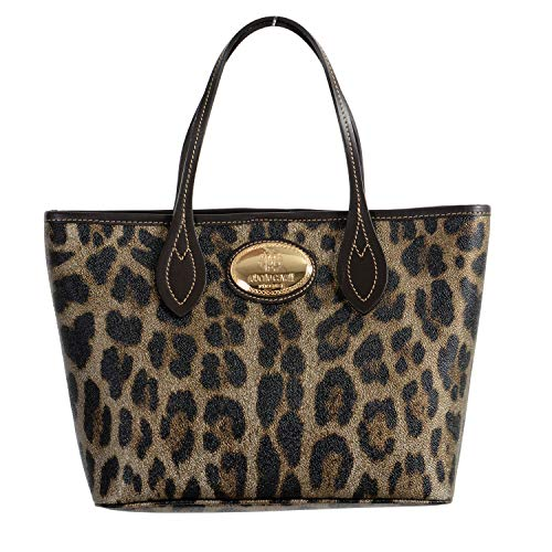 (Roberto Cavalli 100% Leather Multi-Color Leopard Print Women's Shoulder Bag)