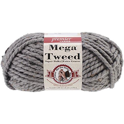 Premier Yarns Mega Tweed Yarn, Gray