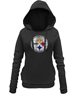 New Era Pittsburgh Steelers Women s NFL Post Route Pullover Hooded  Sweatshirt 26bed109f