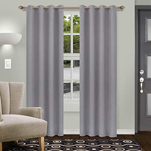SUPERIOR Shimmer Blackout 2 Panel Curtains 52X108
