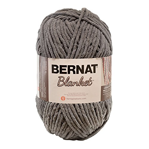 Bernat 16111010044 Blanket Yarn, 10.5 Ounce, Dark Grey, Single Ball