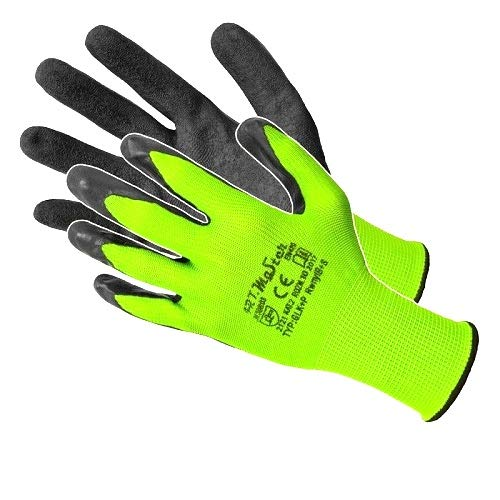 24 Pairs LATEX COATED WORK GLOVES ROUGHENED GRIP PROFESSIONAL size 7 / Small Art Mas