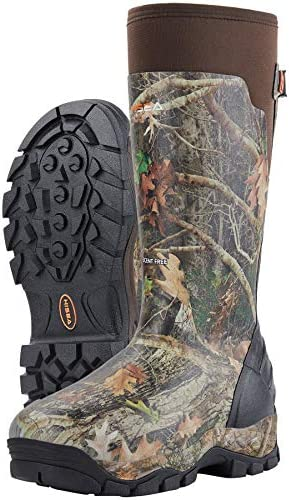 HISEA Apollo Pro 800G Insulated Men's Hunting Boots Waterproof Durable Rubber Muck Mud Boots with Arctic Grip Outsole