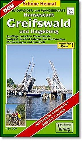 Karte Deutsch 15 000 Land- Falk Stadtplan Extra Standardfaltung Greifswald 1