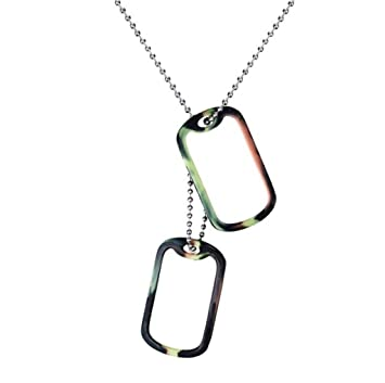Nwyjr jewelry creative mens necklace pendant 52mm double tag nwyjr jewelry creative mens necklace pendant 52mm double tag pendant necklace length 61cm aloadofball Gallery