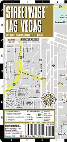 Streetwise Las Vegas Map Laminated City Center Street Map Of Las - Map of las vegas nv