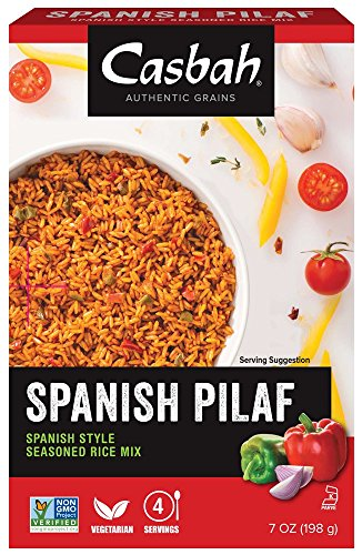 Kosher Couscous Casbah (Casbah Authentic Grains, Spanish Rice Pilaf Mix, 7 Ounce (Pack of 12))