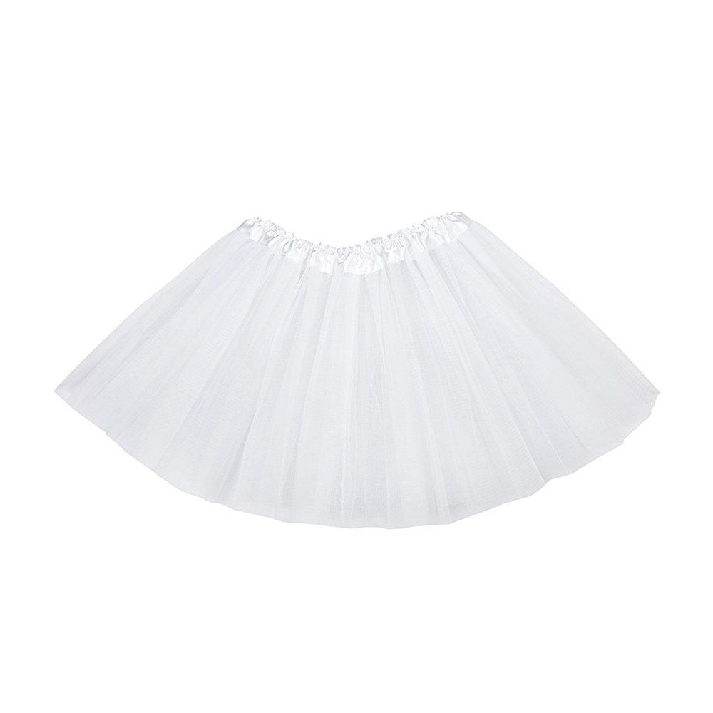 hou zhi liang Mädchen Tutu Rock Ballett Petticoats Dancewear Fancy Kleid Party Dancewear Fairy Kleid Weiß