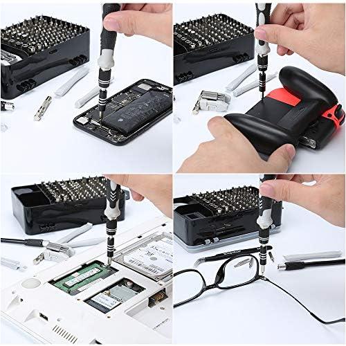 E·Durable Juego de destornilladores,122 en 1 Kit de herramienta de reparación magnético para iPhone X, 8, 7 / portátil/PC/reloj/consola de juegos/Mini HERRAMIENTAS de reparación de trabajo manual DIY: Amazon.es: Bricolaje y herramientas