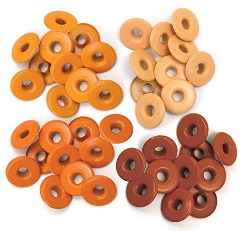 We R Memory Keepers 41586-2 Eyelets for Scrapbooking, Wide, Orange