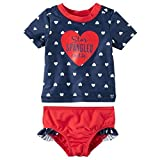 Carter's Baby Girls' 2 Piece Rashguard Swim Set 3 Months