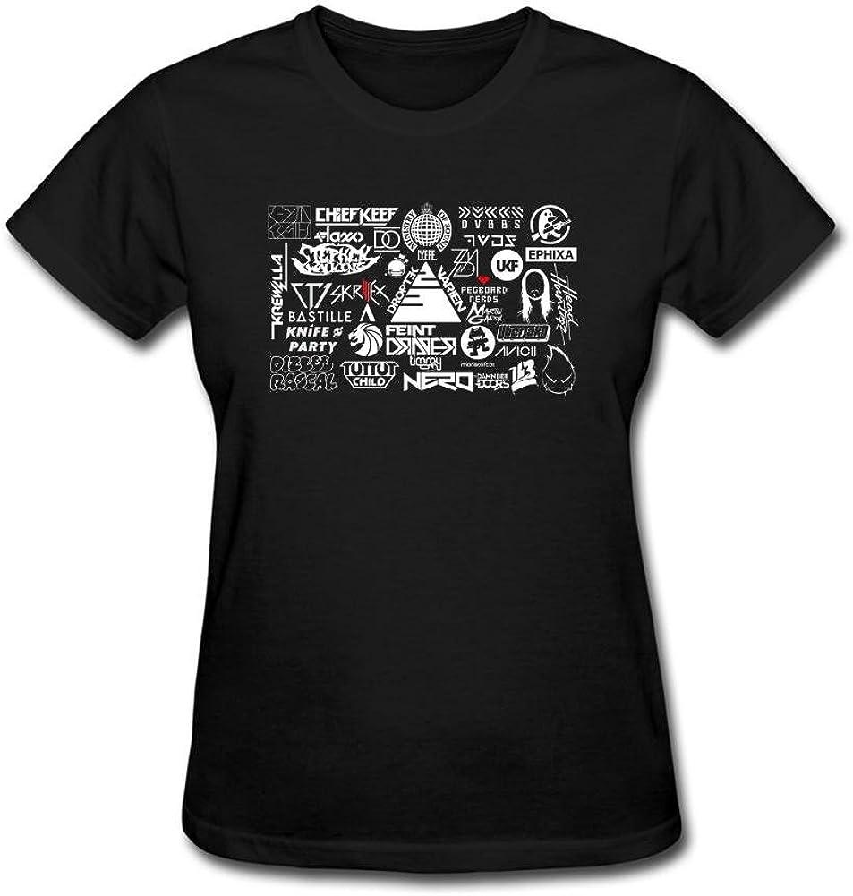 ShiDan Women's DJ Avicii Afrojack Skrillex Logo T-Shirts