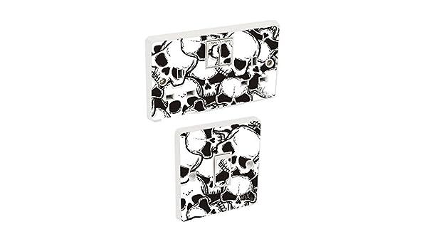 Skin cover sosw39 Skulls Light Switch /& Double Socket Sticker Vinyl