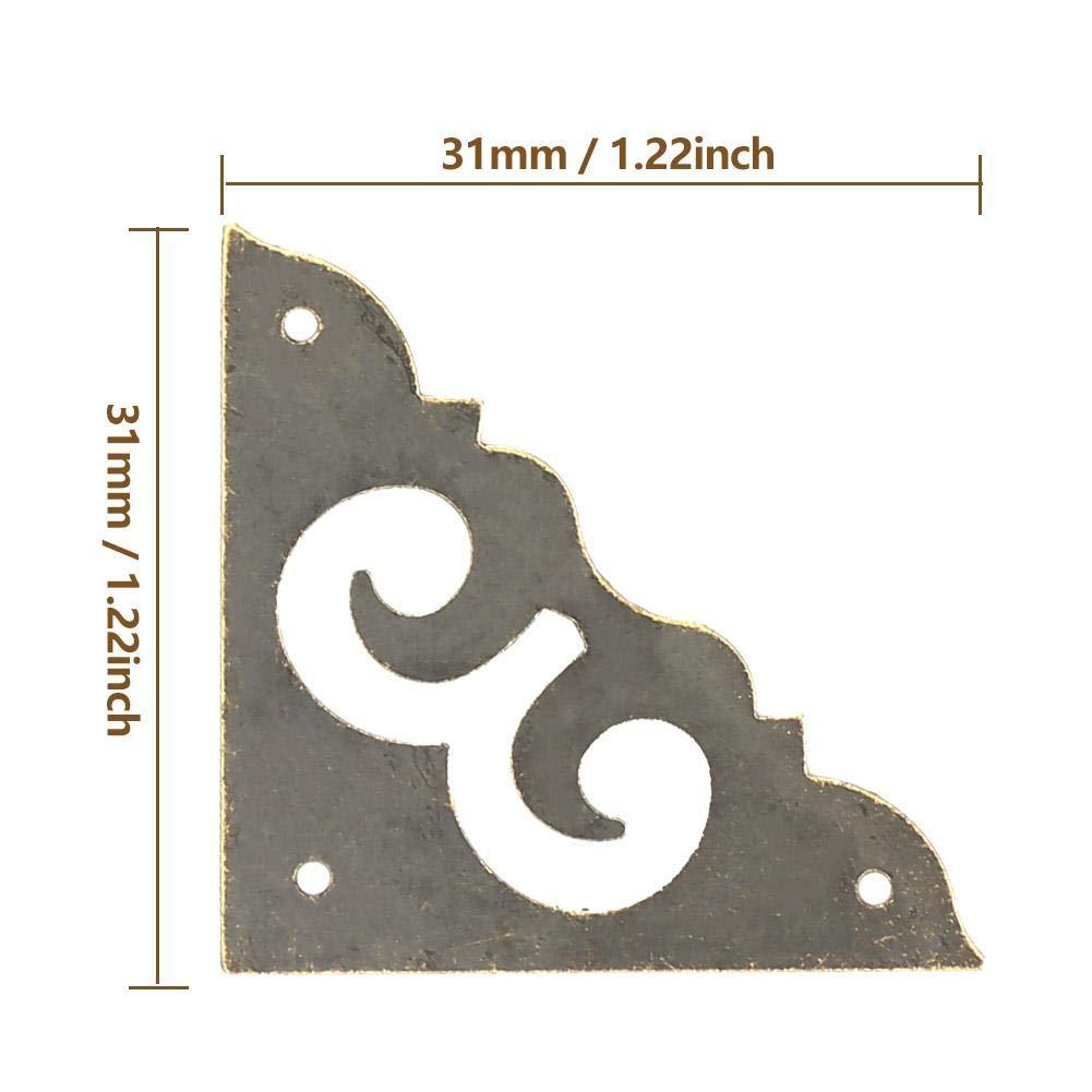 Support de Coin D/écor Vintage pour Meubles en Bois Lot de 12 L Marhynchus Couvercle de Bord D/écoratif pour Meubles