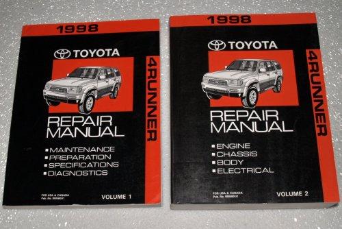 1998 Toyota 4Runner Factory Repair Manuals (RZN180, RZN185, VZN180, VZN185 Series, 2 Volume Complete Set)