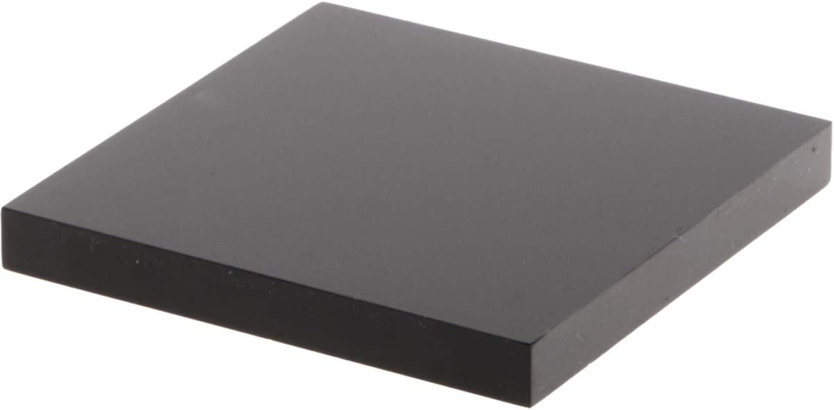 "7/"" W x 7/"" D x 0.375/"" H Plymor Black Square Acrylic Display Base"