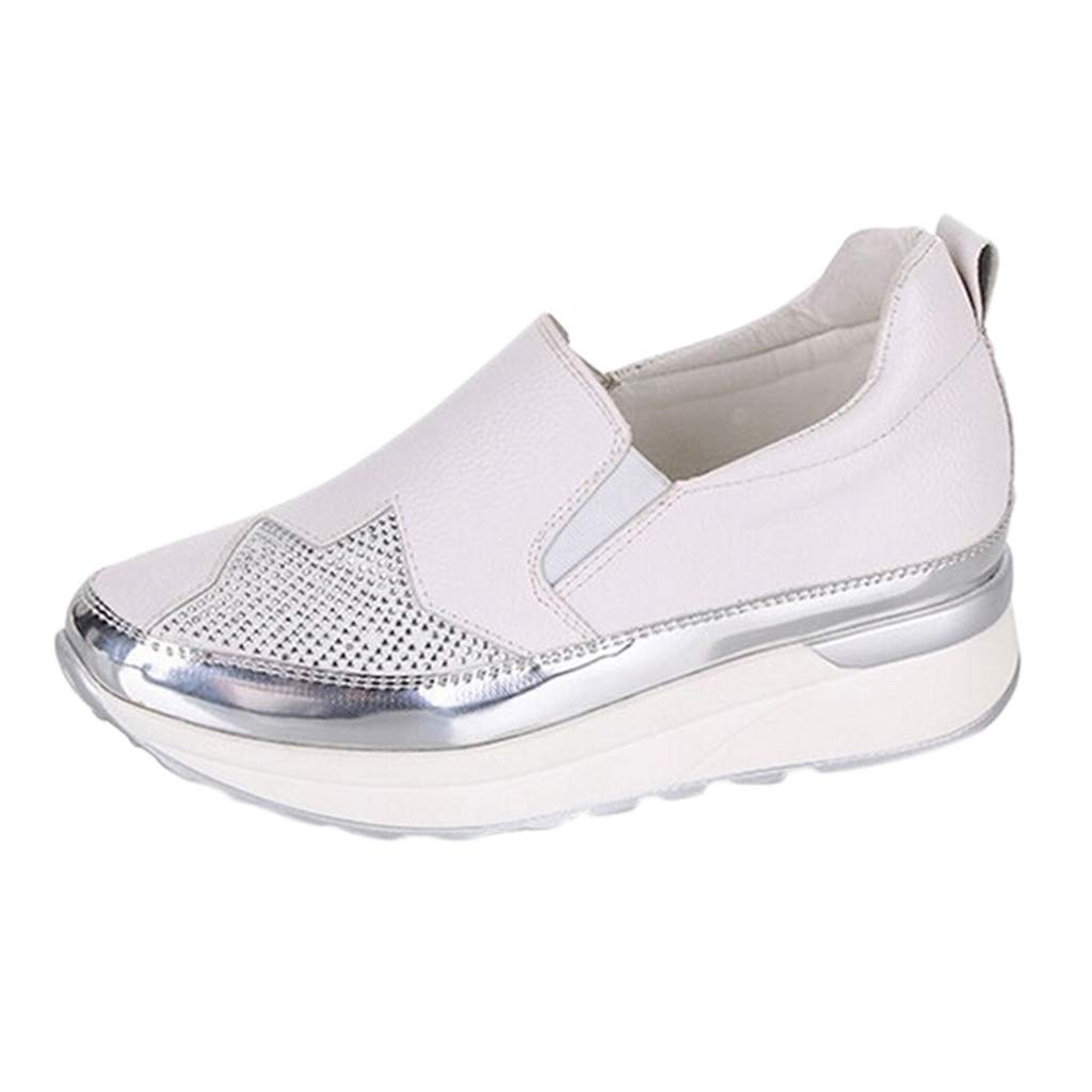 Women's Breathable Sneakers Wedges Shoes Casual Sports Shoes Ladies Single Shoes