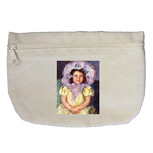 Margo In White (Cassatt) Canvas Makeup Bag Zippered - Brilliant Margo