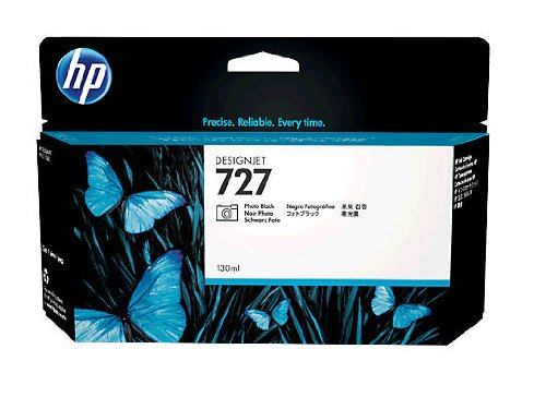 HP HEWB3P23A 727 Ink Cartridge, Photo Black Standard Yield