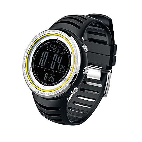 SUNROAD® Deportes reloj de pulsera fr802b 5 ATM Digital el fondo w/altímetro barómetro brújula Mundo tiempo cronómetro: Amazon.es: Deportes y aire libre