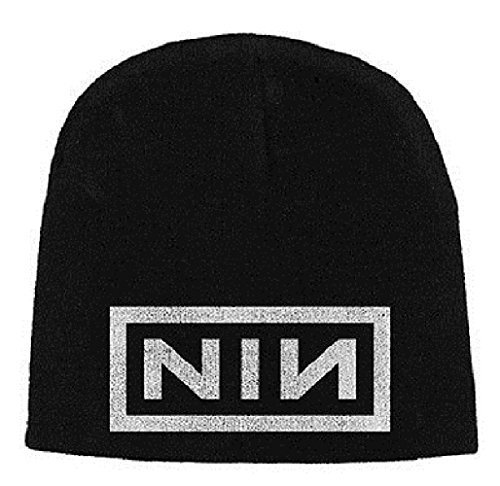 Price comparison product image Nine Inch Nails Classic Block Logo Official New Black Jersey Print Beanie Hat by NINE INCH NAILS Mütze/ beanie hat/ wooly hat (2012-01-01)
