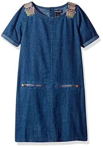 and denim dress - 3