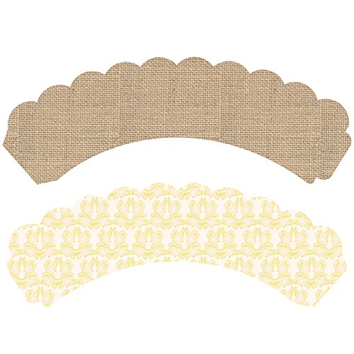 Burlap Cupcake Wrappers, 36, Safari Party Supplies, Reversible, Rustic Baby Shower Decorations, Horse Birthday, Cowgirl Theme Cup Cake Liners, Country Wedding Dessert Table Display, Gender Neutral by Confetti Couture (Image #3)