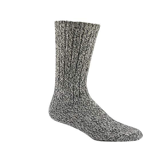 Wigwam Unisex El-Pine Warm Wool Heavyweight Socks, Salt/Pepper, MD
