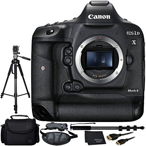 Canon EOS-1D X Mark II DSLR Camera Bundle with Manufacturer Accessories (11 Items)