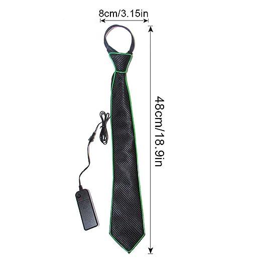 Corbata luminosa con luz Fanny LED brillante en una corbata oscura ...