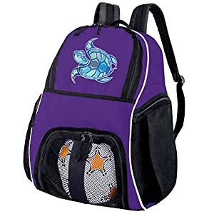 Sea Turtle Soccer Backpack or Volleyball Bag Purple