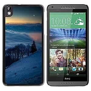 TaiTech / Prima Delgada SLIM Casa Carcasa Funda Case Bandera Cover Armor Shell PC / Aliminium - Snowy Mountains - HTC DESIRE 816