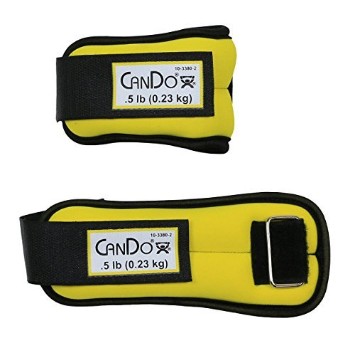 CanDo 10-3380-2 Weight Straps, 1 lb. Set, Yellow (Pack of 2)