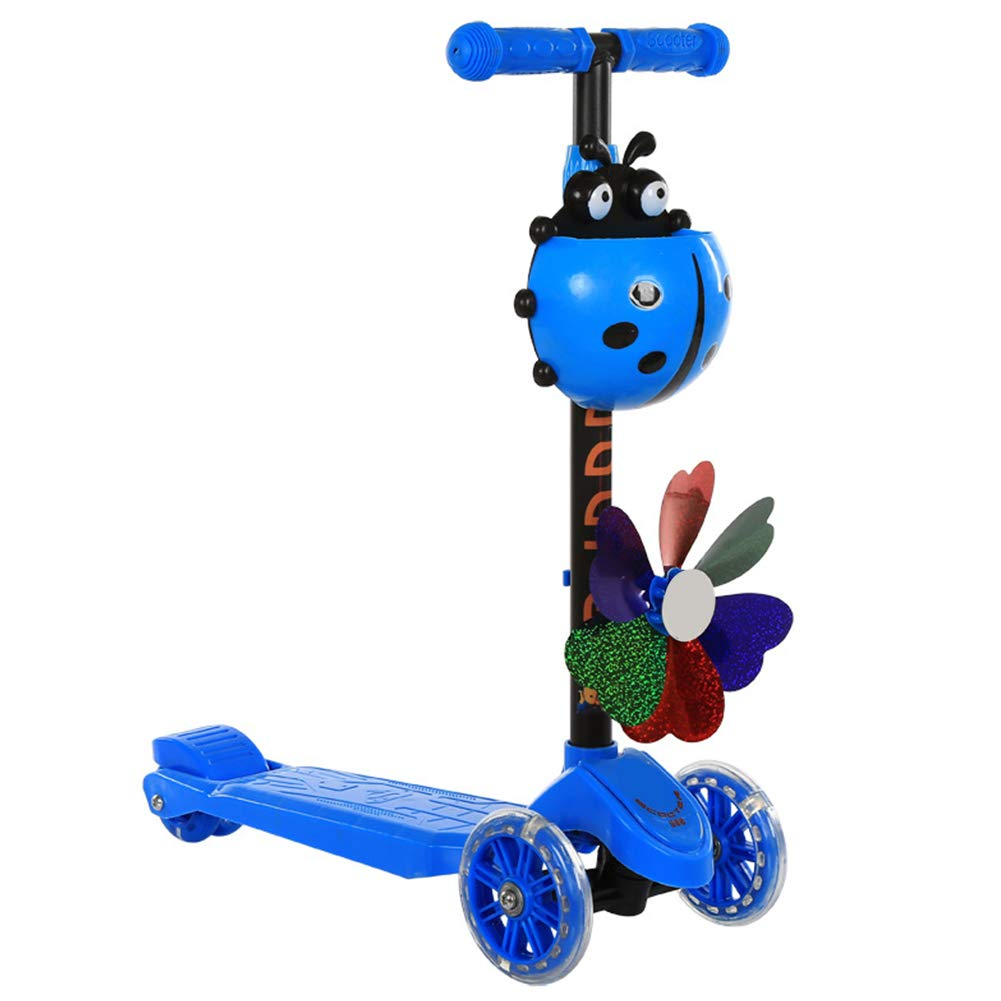 mejor marca azul Scooter para niños Kids 3 Wheel Wheel Wheel Kick Scooter de Altura Ajustable Scooter con extraíble Ajustable  Tienda 2018