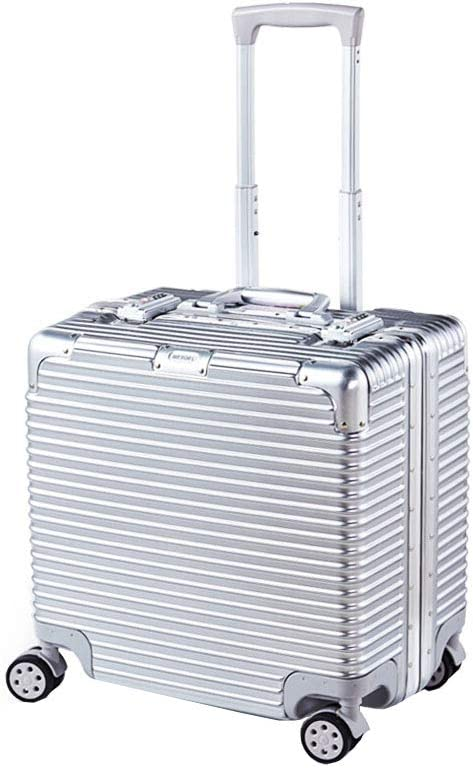 BMHFF Luggage Carry On Luggage with 8 Spinner Wheels Hardshell Lightweight Suitcase with TSA Password Lock Durable Trolley Case Boarding The Chassis 18In for Men and Women International Travel,Silver