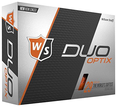 Wilson Staff Duo Soft Optix Golf Balls, Orange