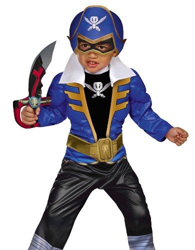 Disguise Saban Super MegaForce Power Rangers Blue Ranger Toddler Muscle Costume