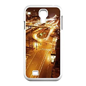 Okaycosama City at Night 2 Samsung Galaxy S4 Case for Teen Girls, Samsung Galaxy S4 Case for Women [White]