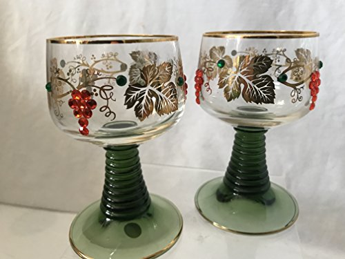 Roemer West Germany Wine Glass Set of 2 ()