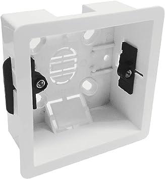 Caja portamecanismos empotrable modessimple 1 Pared interruptor de toma eléctrica: Amazon.es: Bricolaje y herramientas